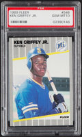 Baseball Cards:Singles (1970-Now), 1989 Fleer Ken Griffey Jr. #548 PSA Gem Mint 10....
