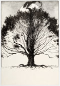 Original Comic Art:Illustrations, Charles Vess - Woman in Tree Illustration Original Art (1985)....