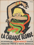 """Movie Posters:Foreign, The Blonde Gypsy (Les Films Fernand Rivers, 1954). Folded, Very Fine-. French Grande (47"""" X 63.75""""). Foreign.. ..."""