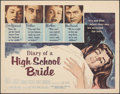 "Movie Posters:Exploitation, Diary of a High School Bride (American International, 1959). Rolled, Fine/Very Fine. Half Sheet (22"" X 28""). Exploitation.. ..."