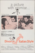 """Movie Posters:Foreign, Divorce Italian Style (Embassy, 1961). Folded, Overall: Very Fine-. One Sheet (27"""" X 41""""), Lobby Cards (2) (11"""" X 14""""), & Ph... (Total: 7 Items)"""
