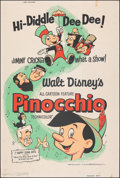 """Movie Posters:Animation, Pinocchio & Other Lot (Buena Vista, R-1962). Rolled, Overall: Fine/Very Fine. Silk Screen Poster & Posters (4) (40"""" X 60""""). ... (Total: 5 Items)"""