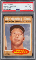 Baseball Cards:Singles (1960-1969), 1962 Topps Mickey Mantle (All Star) #471 PSA NM-MT 8....