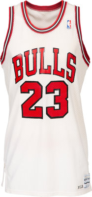 1986-87 Michael Jordan Game Worn Chicago Bulls Uniform--Definitively Photo Matched to Five Games Including 56 Points vs...