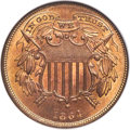 Two Cent Pieces, 1864 2C Small Motto, FS-401, MS66 Red NGC....