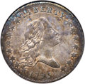 Early Half Dollars, 1795 50C 2 Leaves, O-130, T-8, Low R.5, AU55 NGC. CAC....