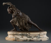 After Claire Jeanne Roberte Colinet (French, 1883-1969) Dance of Carthage Bronze 10-3/4 inches (2