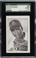 "Baseball Cards:Singles (1940-1949), 1947 Bond Bread Jackie Robinson ""Portrait"" SGC 92 NM/MT+ 8.5 - Highest Graded Example! ..."