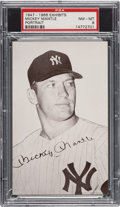 Baseball Cards:Singles (1940-1949), 1947-66 Exhibits Mickey Mantle PSA NM-MT 8. ...