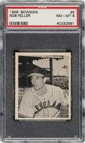 Baseball Cards:Singles (1940-1949), 1948 Bowman Bob Feller #5 PSA NM-MT 8...