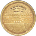Territorial Gold , 1852/1 $10 Humbert Ten Dollar, H.H. PIERSON / W.W. LIGHT / DENTIST Counterstamp VF30 NGC. Rulau Calif-132, Brunk-490. Kagin-8...