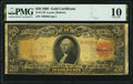 Large Size:Gold Certificates, Fr. 1179 $20 1905 Gold Certificate PMG Very Good 10.. ...