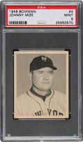 Baseball Cards:Singles (1940-1949), 1948 Bowman Johnny Mize #4 PSA Mint 9 - Two Higher. ...