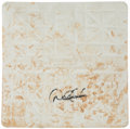 Baseball Collectibles:Others, 2006 New York Yankees Game Used Second Base Signed by Derek Jeter....
