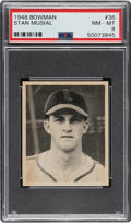 Baseball Cards:Singles (1940-1949), 1948 Bowman Stan Musial #36 PSA NM-MT 8. ...