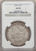 Morgan Dollars: , 1896-O $1 AU50 NGC. NGC Census: (634/5445). PCGS Population: (828/5533). CDN: $90 Whsle. Bid for NGC/PCGS AU50. Mintage 4,9...