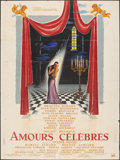 "Movie Posters:Foreign, Famous Love Affairs (Unidis, 1961). Folded, Fine+. French Grande (47.25"" X 63"") Bobet Artwork. Foreign.. ..."