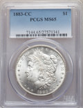 Morgan Dollars: , 1883-CC $1 MS65 PCGS. PCGS Population: (9145/2742). NGC Census: (4436/1148). CDN: $315 Whsle. Bid for NGC/PCGS MS65. Mintag...