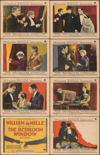 "The Bedroom Window (Paramount, 1924). Fine. Lobby Card Set of 8 (11"" X 14""). Mystery. ... (Total: 8 Items)"