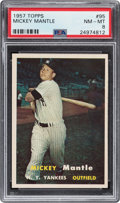 Baseball Cards:Singles (1950-1959), 1957 Topps Mickey Mantle #95 PSA NM-MT 8. ...