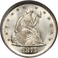 Twenty Cent Pieces, 1875 20C MS67 PCGS. CAC. BF-1, R.1,...