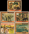 """Movie Posters:Action, Northwest Passage (MGM, 1940). Overall: Fine. Trimmed Title Lobby Card (10.75"""" X 14"""") & Lobby Cards (4) (11"""" X 14""""). Action.... (Total: 5 Items)"""