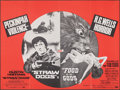"""Movie Posters:Crime, Straw Dogs/The Food of the Gods Combo (Brent Walker, R-Late 1970s). Folded, Very Fine. Full-Bleed British Quad (30"""" X 40""""). ..."""