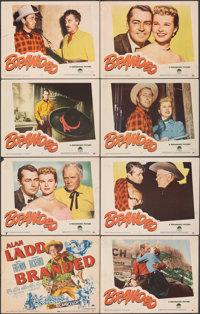 "Branded (Paramount, 1951). Overall: Fine+. Lobby Card Set of 8 (11"" X 14""). Western. ... (Total: 8 Items)"