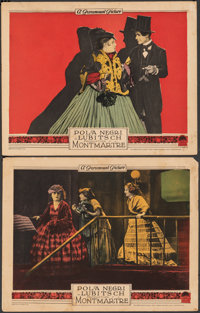 """Montmartre (Paramount, 1924). Fine+. Lobby Cards (2) (11"""" X 14""""). Drama. ... (Total: 2 Items)"""