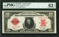 Large Size:Legal Tender Notes, Fr. 123 $10 1923 Legal Tender PMG Choice Uncirculated 63 EPQ.. ...