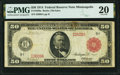 Large Size:Federal Reserve Notes, Fr. 1020a $50 1914 Red Seal Federal Reserve Note PMG Very Fine 20.. ...