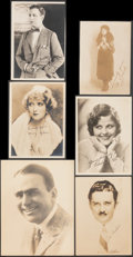 """Movie Posters:Miscellaneous, Fan Club Photo Lot (1910s - 1930s). Very Fine-. Fan Club Photos (12) (4.5"""" X 6.5"""" - 6.5"""" X 8.5""""). Miscellaneous.. ... (Total: 12 Items)"""