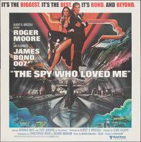 "The Spy Who Loved Me (United Artists, 1977). Folded, Very Fine+. International Six Sheet (76.75"" X 78.5"") Bob..."
