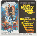 "Movie Posters:James Bond, Diamonds are Forever (United Artists, 1971). Folded, Very Fine+. International Six Sheet (77"" X 78.75) Robert McGinnis Artwo..."
