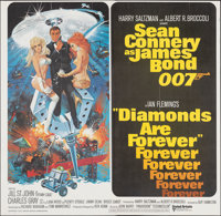 "Diamonds are Forever (United Artists, 1971). Folded, Very Fine+. International Six Sheet (77"" X 78.75) Robert McGin..."