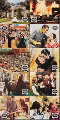 """Movie Posters:Academy Award Winners, Gone with the Wind (CIC, R-1970s). Very Fine+. British Front of House Mini Lobby Cards (8"""" X 10""""). Academy Award Winners.. ... (Total: 8 Items)"""