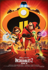 "Incredibles 2 (Walt Disney Studios, 2018). Rolled, Very Fine/Near Mint. One Sheet (27"" X 40"") DS Advance. Anim..."