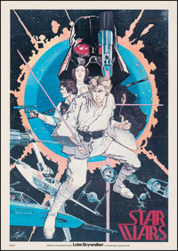"Star Wars (20th Century Fox, 1976). Fine on Linen. Promotional Poster (20.5"" X 29"") Howard Chaykin Artwork. Sc..."