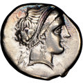 Ancients: CAMPANIA. Neapolis. Ca. 330-270 BC. AR didrachm or stater (20mm, 2h). NGC Choice VF