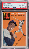Baseball Cards:Singles (1950-1959), 1954 Topps Ted Williams #1 PSA NM-MT+ 8.5. ...
