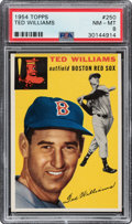 Baseball Cards:Singles (1950-1959), 1954 Topps Ted Williams #250 PSA NM-MT 8. ...