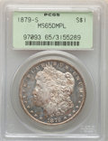 Morgan Dollars: , 1879-S $1 MS65 Deep Mirror Prooflike PCGS. PCGS Population: (162/72). NGC Census: (106/31). CDN: $1,100 Whsle. Bid for NGC/...