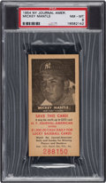 Baseball Cards:Singles (1950-1959), 1954 New York Journal American Mickey Mantle PSA NM-MT 8 - Only Two Higher. ...