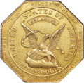 Territorial Gold , 1851 $50 RE Humbert Fifty Dollar, Reeded Edge, 887 Thous. MS61 NGC. K-6, R.4....