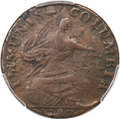 Colonials, 1787 COPPER Immunis Columbia, Eagle Reverse, VF30 PCGS. W-5680, High R.4....