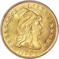 Early Eagles, 1799 $10 Large Obverse Stars, BD-10, R.3, MS64+ PCGS....