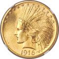 Indian Eagles, 1916-S $10 MS66+ NGC....