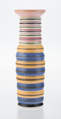Peter Shire (American, b. 1947) Untitled, 1998 Ceramic 21 x 7 x 7 inches (53.3 x 17.8 x 17.8 cm)<