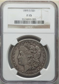 Morgan Dollars: , 1895-S $1 Fine 15 NGC. NGC Census: (173/1929). PCGS Population: (327/3644). CDN: $360 Whsle. Bid for NGC/PCGS Fine 15. Mint...