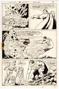 Curt Swan and Murphy Anderson Superman #254 Story Page 6 Original Art (DC, 1972)